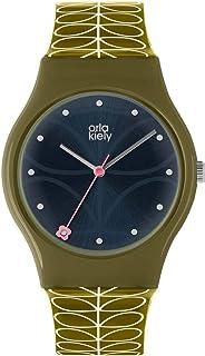 Orla Kiely 奥拉·凯利 中性成人石英手表,模拟经典显示屏和*塑料表带 OK2223