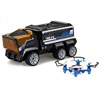 Silverlit 银辉 电动玩具 动感飞机 卡车任务四轴任务机 儿童遥控飞机玩具 (包含:任务机 卡车 遥控器)SLVC847720CD00101
