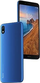 小米 Redmi 7A(16GB + 64GB MicroSD)5.45 英寸显示屏,双 SIM GSM 工厂解锁(美国+全球 4G LTE 型号)M1903C3EGB-16 哑光蓝色