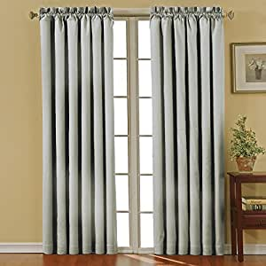 Eclipse Canova Blackout Window Curtain Panel, 42 by 84-Inch, Gray