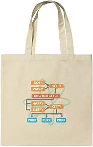 Big Bang Theory 柔软小猫流图购物可重复使用手提袋 多种颜色 小号 TOTE.SM.NAT.WBGAM073.Z005099_8