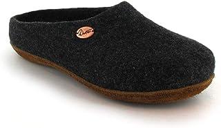 WoolFit 经典中性毛毡拖鞋 - *手工羊毛木底鞋,带足弓支撑和可拆卸舒适鞋垫