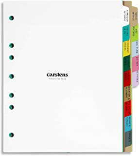 Carstens 重型塑料长期护理分隔套装,14 个标签,多色,适用于侧开 3 个环和 5 个活页夹