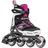 Rollerblade Girls Spitfire JR XTG 2016 Kids Skate, Black/Pink, Adjustable (5 to 8)