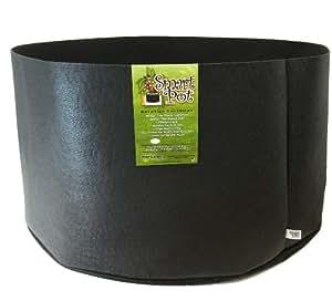 Smart Pots 软面容器,方形尺寸 200-Gal 黑色 10201