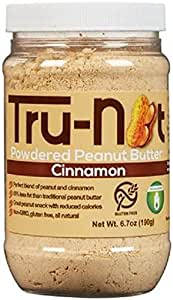 Tru-Nut Powdered Peanut Butter, Cinnamon, 6.7 Ounce