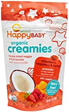 【跨境自营】HAPPYBABY禧贝有机椰奶溶豆草莓覆盆子胡萝卜味28克(美国品牌 保税仓发货) 包税