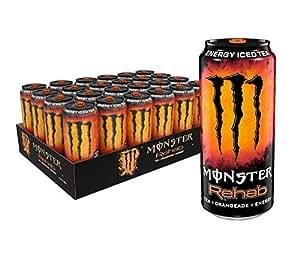 Monster Energy 康复茶+桔子水+能量,能量冰茶,15.5盎司/约0.44升(24件)