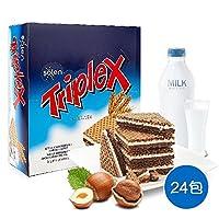 Triplex 脆博乐 牛奶巧克力榛子威化饼干480g/盒 土耳其进口(土耳其进口)(亚马逊自营商品, 由供应商配送)