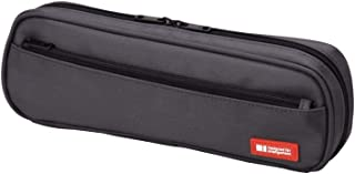"LIHIT LAB Pen Case, Black, 3 x 9.4"" (A7552-24)"
