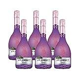 香奈红酒法国原瓶进口起泡酒时尚系列黑加仑气泡酒葡萄酒颜值酒750ml*6支整箱 (黑加仑 6支)