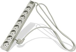 APSA D7000/8 gr/SI 1HE 8 插入件 非常适合带角度开关柜,4000 W,250 V,灰/银,19 英寸