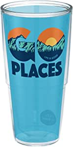 Tervis 1253437 Life Is Good-Go Places 保温杯 带包装 透明 24 oz 1253439