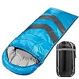 大号睡袋适合温暖寒冷天气,四季穿着,32-60 度舒适轻盈防水信封睡袋,适合露营徒步旅行,超大宽,适合成人男士