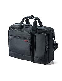 SANWA SUPPLY 山业 15.6英寸笔记本电脑包 单肩双肩手提 轻巧便携 适用Macbook/Dell/ThinkPad/Lenovo 黑色(亚马逊自营商品, 由供应商配送)