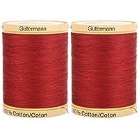 Gutermann 天然棉线固体(876 码)- 颜色可选 莓红色 2组 800C 2433