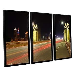 ArtWall 3 件 Cody York's Cleveland 7 Floater 加框油画套装 36x54 0yor020c3654f