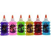 elmer's ' s 可水洗闪光胶每瓶6双装绿色 / 粉色 / 紫色 / 红色 / 黄色 / 蓝色