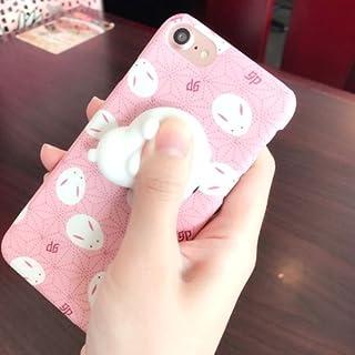 alsatek 柔软兔子 3D 保护壳塑料手机壳适用于 iPhone 4