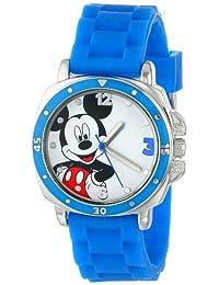 Disney 兒童 MK1266 手表藍色橡膠表帶
