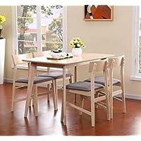 顾家家居 餐桌椅组合餐厅成套家具餐桌餐椅1.2米PT1571原木色一桌四椅(亚马逊自营商品, 由供应商配送)
