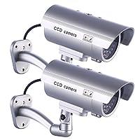伪*摄像机,模拟 LED 家用* + 户外/室内使用警告贴纸,2 个装 IDAODAN