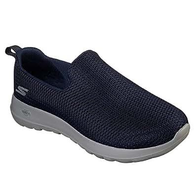 Skechers 斯凯奇 GO WALK MAX系列 男 轻质一脚蹬健步鞋 54600-NVGY 海军蓝色/灰色 43.5 (US 10)