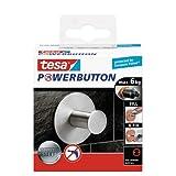 tesa 德莎 德国进口 强力按钮经典豪华圆形粘钩 采用不锈钢材质