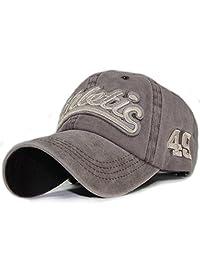 Qchomee 复古刺绣棉质棒球帽后搭扣卡车司机帽设计师帽成人运动帽,适用于露营、徒步、跑步、高尔夫、旅行