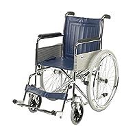 Days 固定臂和腿座休息自制轮椅(适合英国减免增值税)、18 英寸座椅折叠手动轮椅、老人、*人、*、*和*回收,商店简单