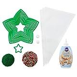 Wilton 假日树饼干模具和装饰套装,18 件 - 圣诞树饼干模具和装饰套装,饼干冰,节日洒