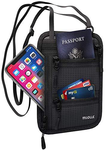 ネック財布 - パスポートホルダー -  Rfidトラベルバッグ - 盗難防止防水*男女兼用の隠しネックバッグ