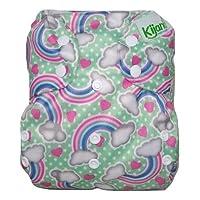 Kijani Baby XL 布尿布套,适合大童 30-70 磅(彩虹色)