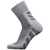 Pure Athlete 徒步袜 - Chevron 船员户外袜,露营袜 - 舒适吸湿排汗袜