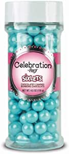 Sweetworks Celebrations 糖果六叶罐 Shimmer Powder Blue 4.5盎司 SCSIX4.5-43769