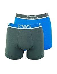 Emporio Armani 男式字母组合2条装平角内裤