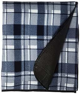 """野餐和户外折叠毯,带防水背衬 - 4 格子 6.5"""" H x 12"""" W x 4"""" L 灰色 7700"""