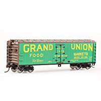 BACHMANN 百万城 HO美国系列仿真金属车轮40尺绿色木制冷藏车火车模型19806