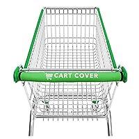 购物车套原装购物车把套 - 用于购物车把的配件保护包 - 可水洗和可重复使用,柔软和靠垫握把 - 20 英寸*助推器,适用于购物者和婴儿(*)