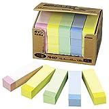 NICHIBAN 便签 点便条 12.5mm×45mm 粉彩线混色(黄色/粉色/蓝色/绿色)