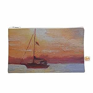 """KESS InHouse Carol Schiff""""Evening Anchor"""" 橙色绘画 Everything 包,21.59 厘米 x 15.24 厘米(CS1023AEP01)"""