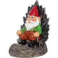 GreenLighting 发光花园小矮人 - 有趣新奇草坪装饰小雕像,适合室内和室外使用 Gnome on a Throne 均码