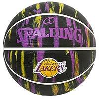 SPALDING 篮球 2019 NBA 丽克 大理石 黑色 橡胶 7号球 84-095J 篮球 84-095J
