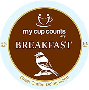 My Cup Counts K Cup Coffee, Breakfast Blend, 48 Count