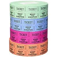 56759 Raffle Tickets - (4 卷 2000 双 Tickets)总共 8,000 个 50/50 Raffle Ticks(4 种颜色)
