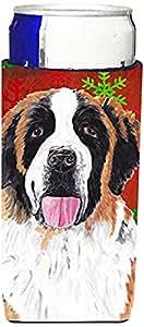 Saint Bernard Red Green Snowflake Christmas Michelob Ultra Koozies for slim cans SC9422MUK 多色 Slim