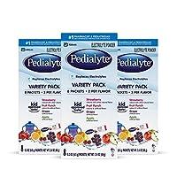 Pedialyte 电解质水冲剂,混合口味,3盒装,每盒8包,共24包,每包0.3盎司(8.5g)