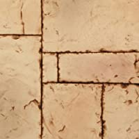 Texture Plus Indoor/Outdoor Siding Panel, Hand Cut Block, Light Tan - Sample