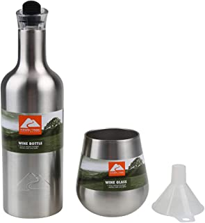 Ozark Trail 酒瓶和 2 个玻璃套装