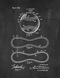 棒球打印艺术海报黑板